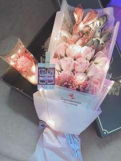 Customised everlasting led bouquet