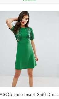 🚚 BN ASOS lace insert shift dress
