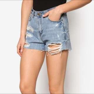 🚚 Something Borrowed Distressed Denim Shorts