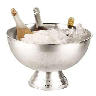 Wines/Champagne/Beverage Bowl | Large Punch Bowl - Silver Color