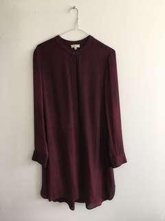 Aritzia Wilfred Silk Blouse