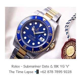 Rolex - Submariner Date Blue Gloss Ceramic Steel & 18K YG 'V'