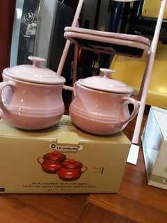 """Le Creuset soup bowls 8cm 3"""" 0.5L pink 粉紅"""