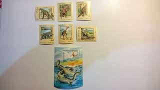 老撾郵票- 恐龍