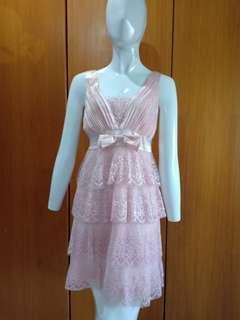 Dress lace pink #jan25