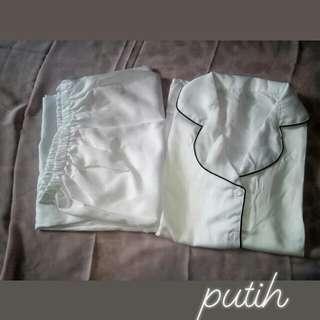 piyama putih murah