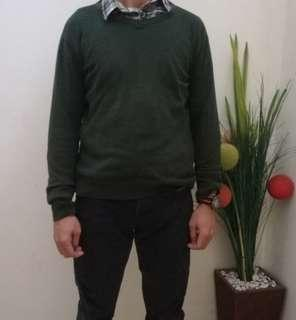Sweater rajut green army