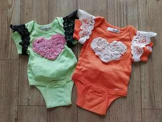 Set of 2 Baby Fancy Rompers