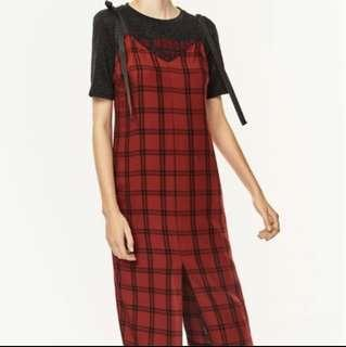 Zara  Red Checked Dress