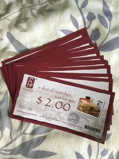 Ya Kun kaya toast voucher $30 selling @ $28 free postage