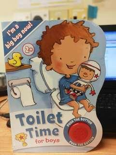 Children Book - toilet times for boys sound book
