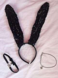 Bunny Ears and 2 chokers ONLY for ₱100!!!