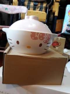 Hellow kitty 土鍋 沙鍋 鍋燒 煲 美濃燒 made in japan