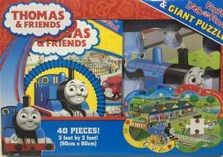 找找看拼圖遊戲書-湯瑪士小火車