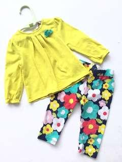 Poney Baby Girl Top Pants Set 6-12 months
