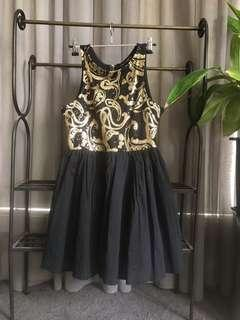 Showgirl gold sequinned dress size 8