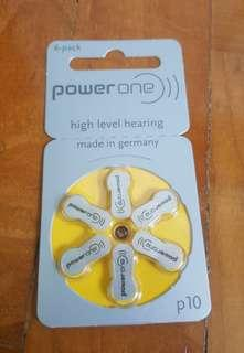 PowerOne Hearing Aid Batteries A312 A13 A10 Zinc Air Mercury Free Germany Made