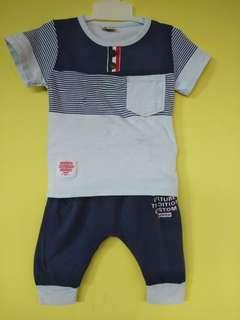 Setelan baju anak atasan + celana import