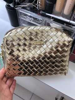 TARTE Make-Up Cosmetic Bag, Gold.