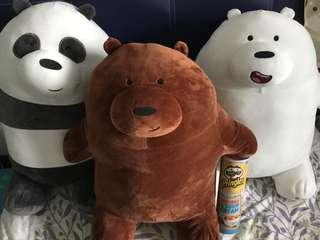 We bare bears soft toy webarebears 60cm selling whole set S$100 self collection only