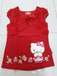 Hello Kitty kaos merah