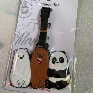 We bare bear Luggage Tag