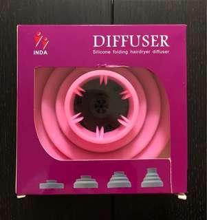 矽膠摺疊式吹風機擴散器 Silicon folding hairdryer diffuser
