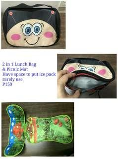 2 in 1 lunch bag & picnic mat