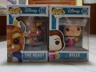 The beast and Belle Funko pop