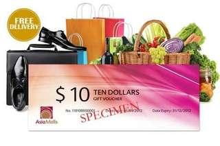 AsiaMalls vouchers Asia Mall gift card
