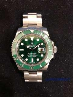 "Rolex 116610LV Submariner ""HULK"" **Pre-Owned**"