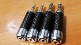 升級無損一體碳纖維轉換頭 2.5mm to 3.5mm/ 4.4mm