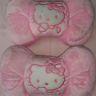 Hello kitty car accessory head rest cushion set