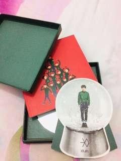 Album exo miracle in december korean ver + snow globe xiumin