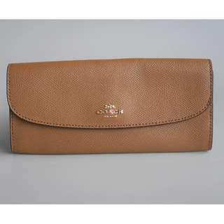 Coach Slim Wallet Envelope Wallet Saddle