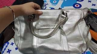 LONGCHAMP BAG SILVER