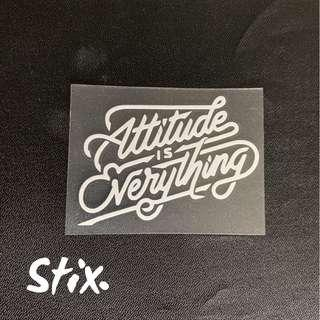 Attitude is Everything Vinyl Cut Sticker