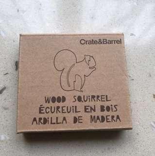 Laser cut wood Squirrel 松鼠雕刻擺飾
