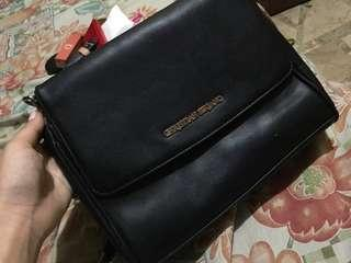 Christian siriano black sling bag