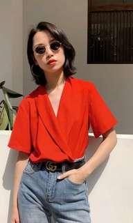 Red shirt leotard