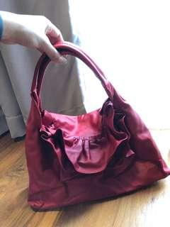 Valentino super soft leather hand bag in Red