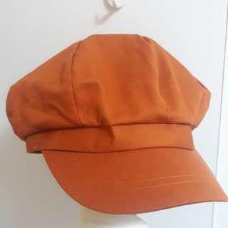 🚚 棕橘報童帽