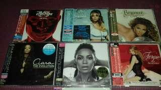 Beyonce Fergie, Ciara , Black Eyed Peas all Original Japan First Pressing Deluxe Edition Sealed