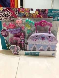 """BRAND NEW MY LITTLE PONY, THE MOVIE, TWILIGHT SPARKLE CAMALOT SPA, STORE & CARRY, FAST DEAL """"$28.00"""" NEGOTIABLE"""