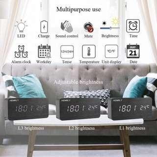Modern Wood Digital Clock