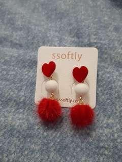 Korea Ssoftly cute fur ball earrings