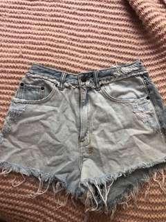 Ksubi denim high waisted shorts