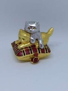 Estee lauder solid perfume Dazzling Silver Playful Kittens
