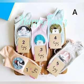 Cute Cartoon Animal Ankle Socks ladies socks unicorn socks