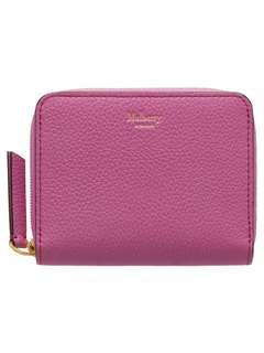 🚚 Authentic mulberry small leather zip around wallet/purse, orchid colour